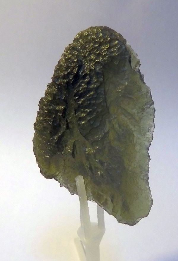 A chunk of meteorite melt a Moldovite, from my collection