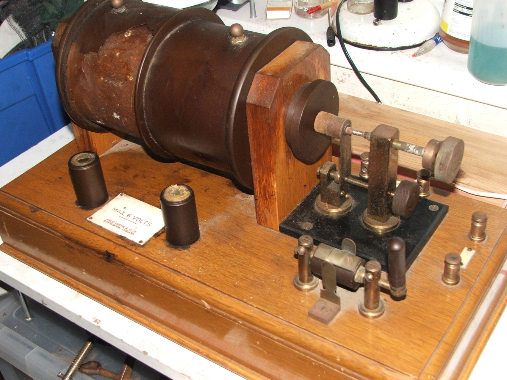 Unrestored Ruhmkorff Induction Coil
