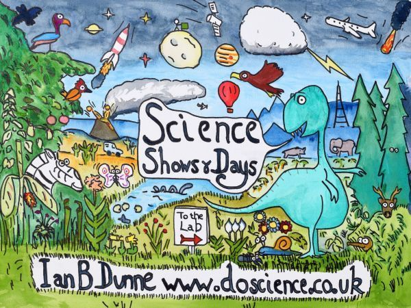 Science shows for primary schools postcard Ian B Dunne