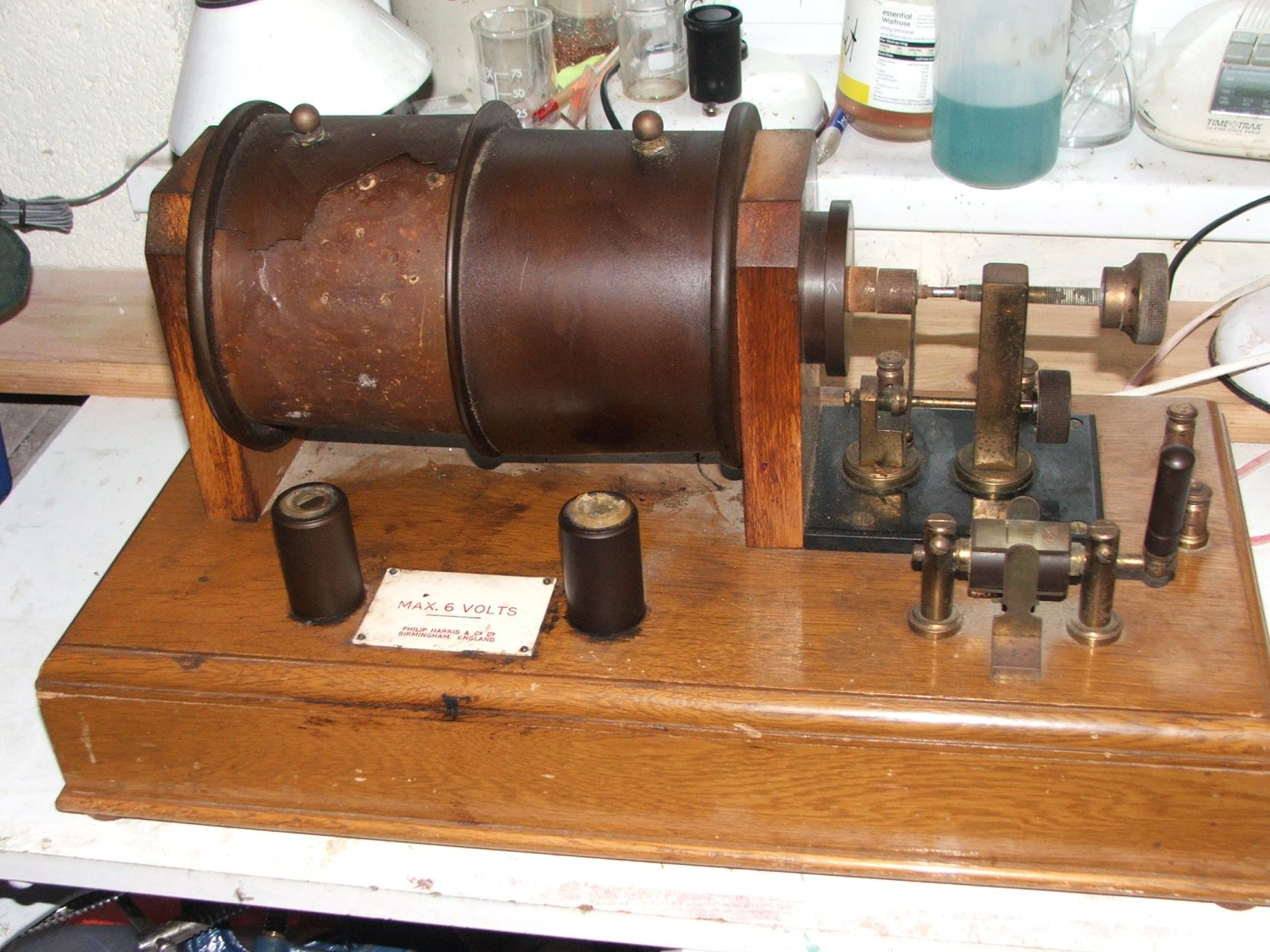 Ruhmkorff Induction coil before restoration
